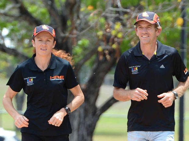 COMMITTED: Raelene and Gavin Bendall preparing for the C2K ultra marathon.