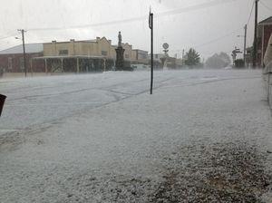 Bureau issues second storm warning after hail at Dorrigo