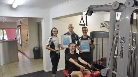 The team at Willows Health and Lifestyle Centre are Frith Ronan, Jennah Pennells, Craig Neilan and Brent Vaughn.
