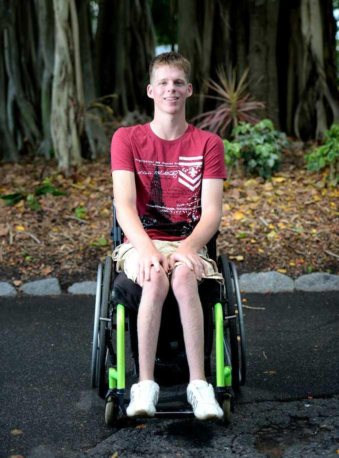 Disabled athlete Ben Lorimer. Photo Allan Reinikka / The Morning Bulletin