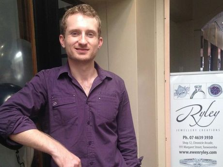 Ewen Ryley, a former St Josepeh's College student, has opened Ryley Jewellery Creations in the Chronicle Arcade.
