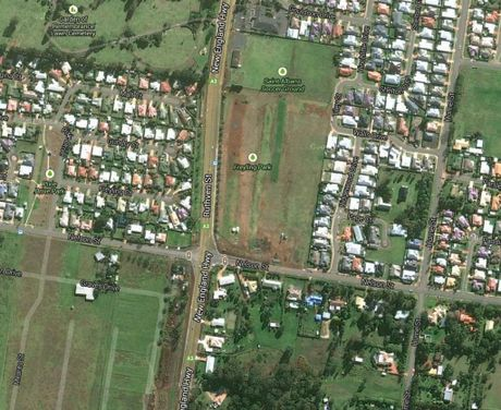 Bird's-eye view of Freyling Park in Kearneys Spring. Photo Contributed