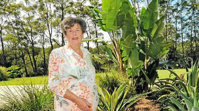 SOURCE OF JOY: Vicki Brooke of Gretel Farm Eureka in her garden ready for open garden weekend.
