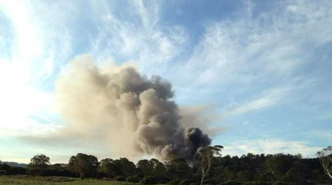 An image of the Lismore tip fire, shared to The Northern Star's Facebook page by Elise Piccoli.