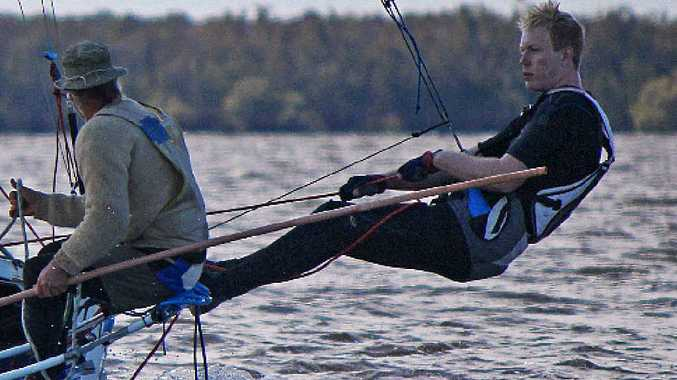 SAILING VETERAN: David Hansa doing what he loved most.