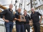 David Halliday, Mathew Boulton, Duncan Littler and Peter FitzSimons celebrate Bundaberg Rum's 125th.