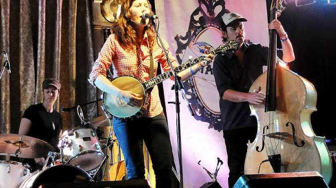 ON STAGE: Sal Kimber and The Rollin Wheel at the Mullum Music Festival in 2012.