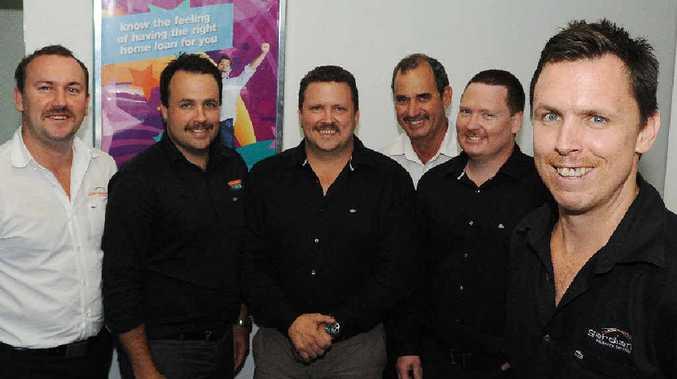 Moustache growers (from left) Ben Kerrisk, Ben Phillips, Peter Phillips, Eric Rickman, Josh Eisemann and Luke Phillips are all taking part in Movember.
