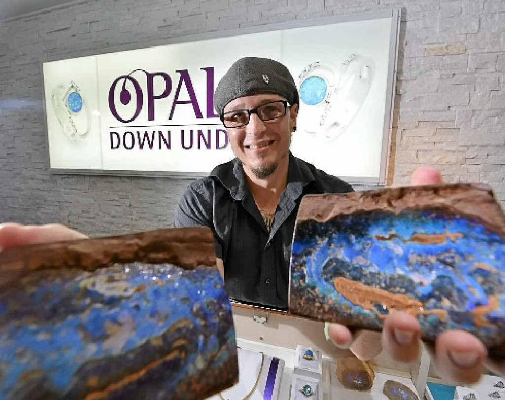RAW BEAUTY: Rhys Fox of Opals Down Under in Palmview.