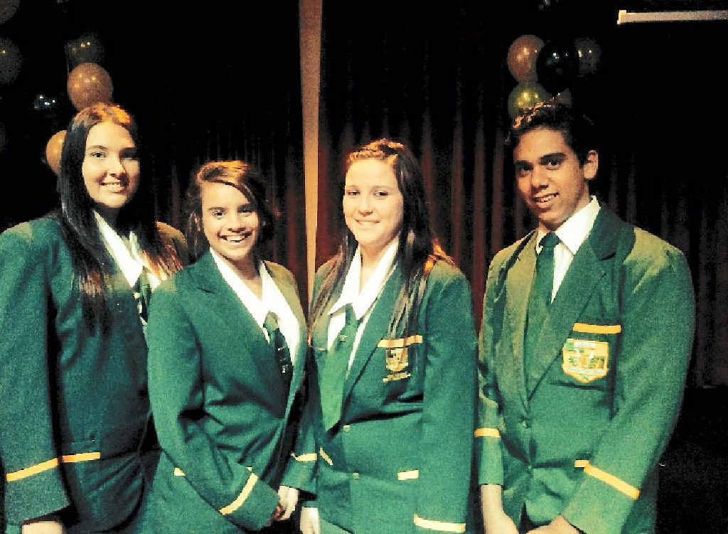 EDUCATION: Queensland Aboriginal and Torres Strait Islander Foundation graduates Samantha Hampton, Kayla Templeman, Amber Bracewell and Brandon Thomas from Isis District State High School.