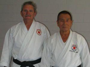Karate royalty, Sensei Yamazaki. visits Gympie