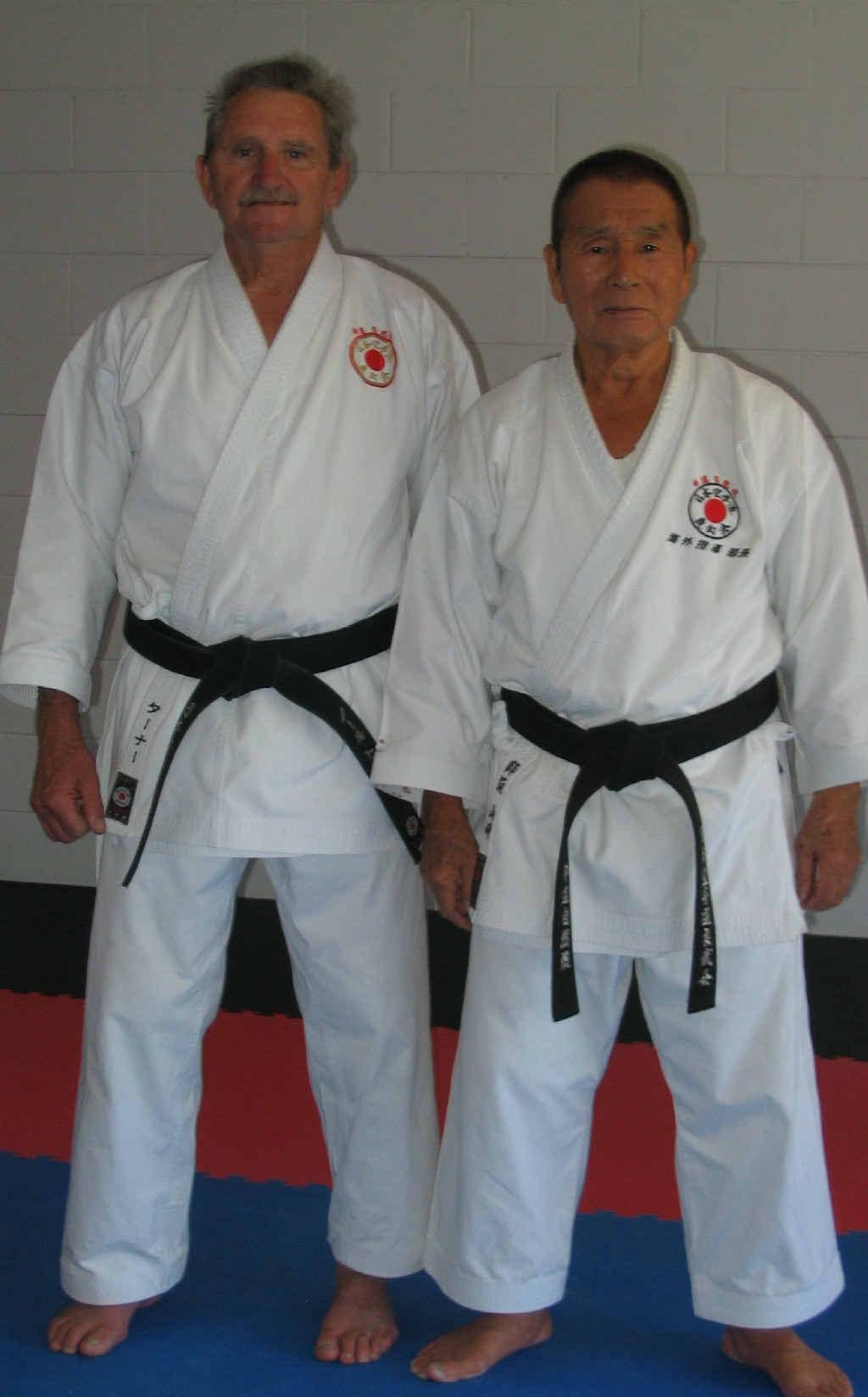SKILLED: Sensei Noel Turner (left) and Sensei Kiyoshi Yamazaki.