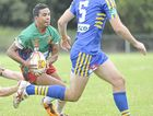 BACK TO THE COUGARS: Roy Bell in action for Northern United against Marist Brothers in the NRRRL.