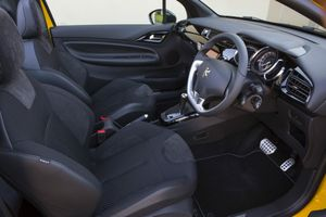 Inside the DS3 Cabrio.