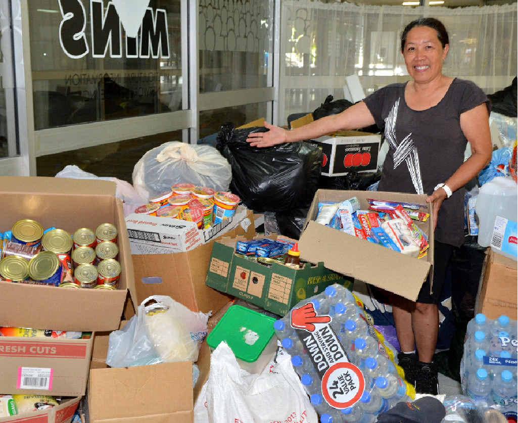 Cynthia Cash is amazed by the generosity of the Gympie community.