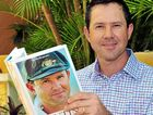 Ricky Ponting with his new book at the launch in Noosa yesterday.