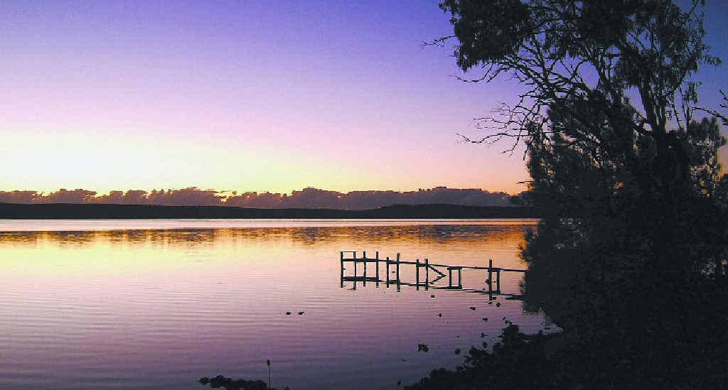 NATURAL BEAUTY: Lake Weyba at sunset.