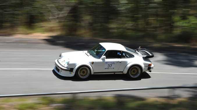 RACE ACE: Bruce Simpson's 1977 Porsche 934 replica at The Noosa Hill Climb.