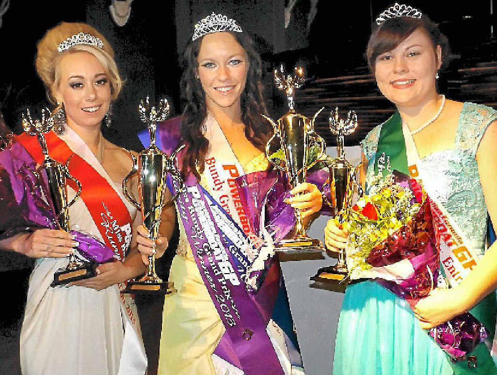 WINNERS: Miss Bundy Grand Prix quest winners Fusha Benson, Chloe Sard and Crystal Mears.