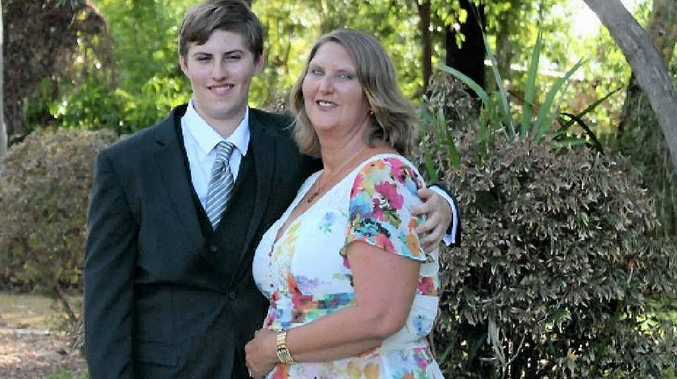 Aiden and Kylie Lund (nee Stower) at Aiden's formal in Moranbah.