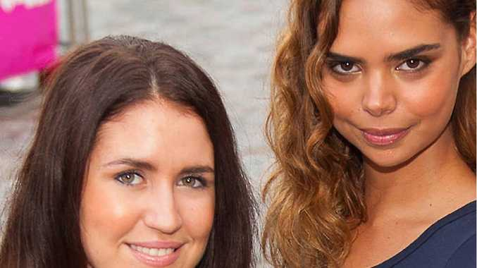 Million dollar looks aplenty with Brittany Lester (left) and face of the Gold Coast Swim Fashion Festival Samantha Harris getting ready for the Gold Coast Bulletin Bikini Parade 2013 at Circle on Cavill, Surfers Paradise.