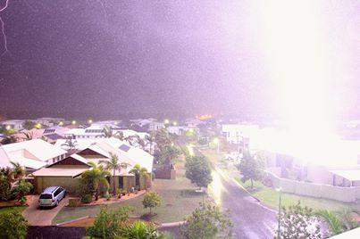 Matt Whitecross took this stunning photo of a lightning strike hitting at extreme close range.