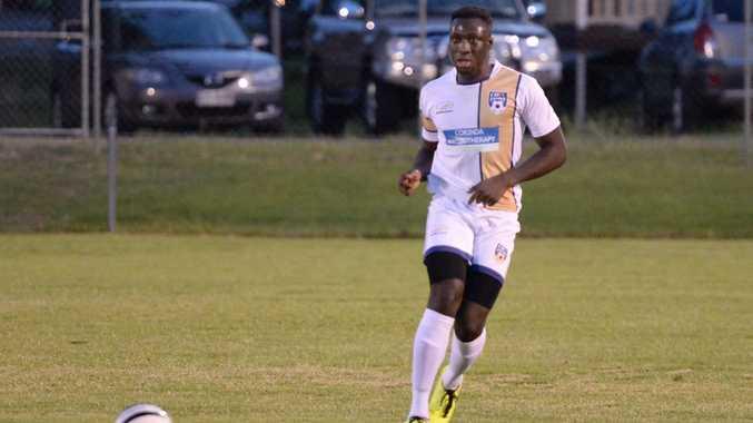 CQ Energy's newest player Tolu Kayod. Photo Allan Reinikka / The Morning Bulletin