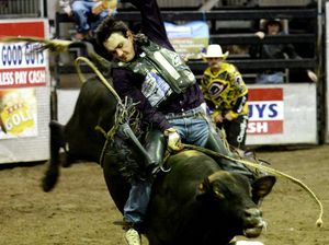 Chuck Norris came out on top at Saturday night's bullride