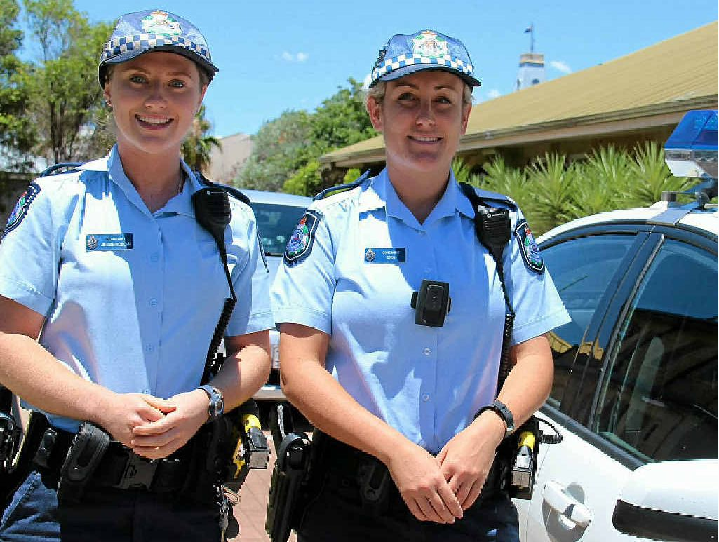 Constables Jessie McBean and Shannon Thomas are both happy to have been posted in Warwick.