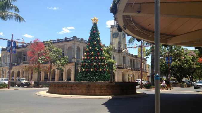 The Christmas Tree in East St, Rockhampton.