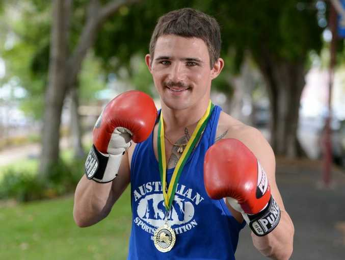 Rockhampton boxer Ben Bowes recently won the Australian Global Welterweight Boxing Title in a tournament on the Sunshine Coast. Photo: Chris Ison / The Morning Bulletin