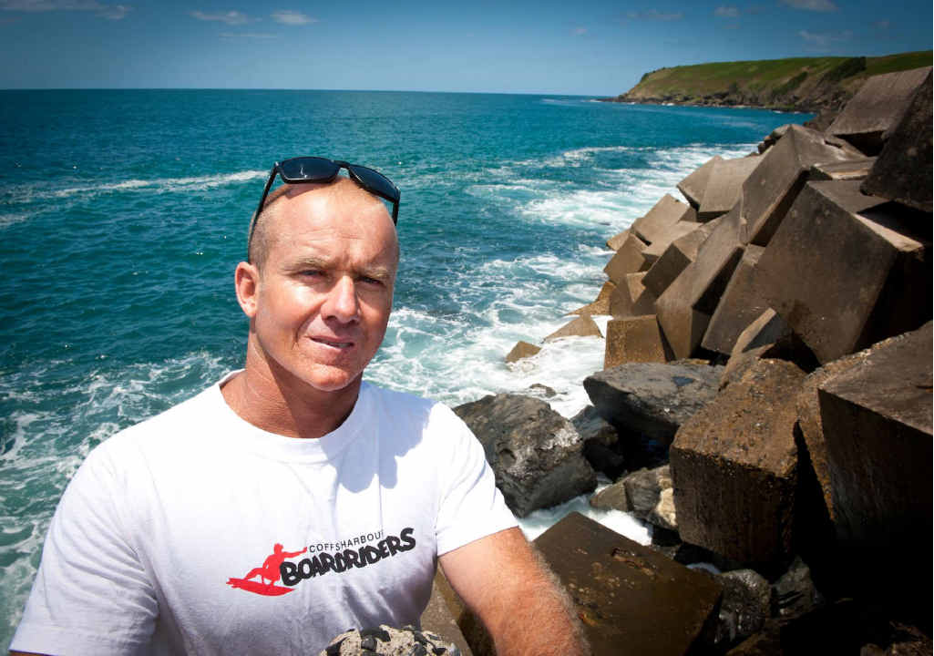 REEF BREAK: Surf school operator Lee Winkler says an artificial reef would bring tourism benefits to Coffs Harbour.