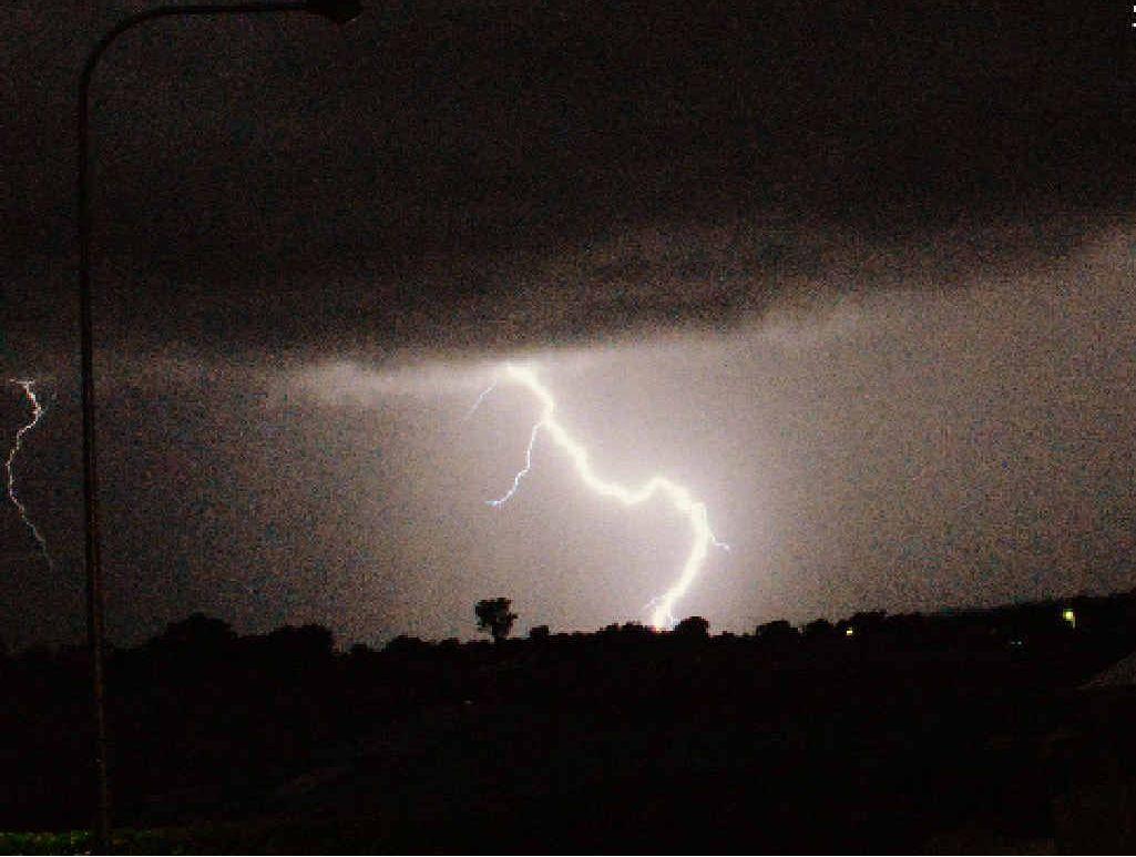 A lightning show at Lightning St, Calliope.