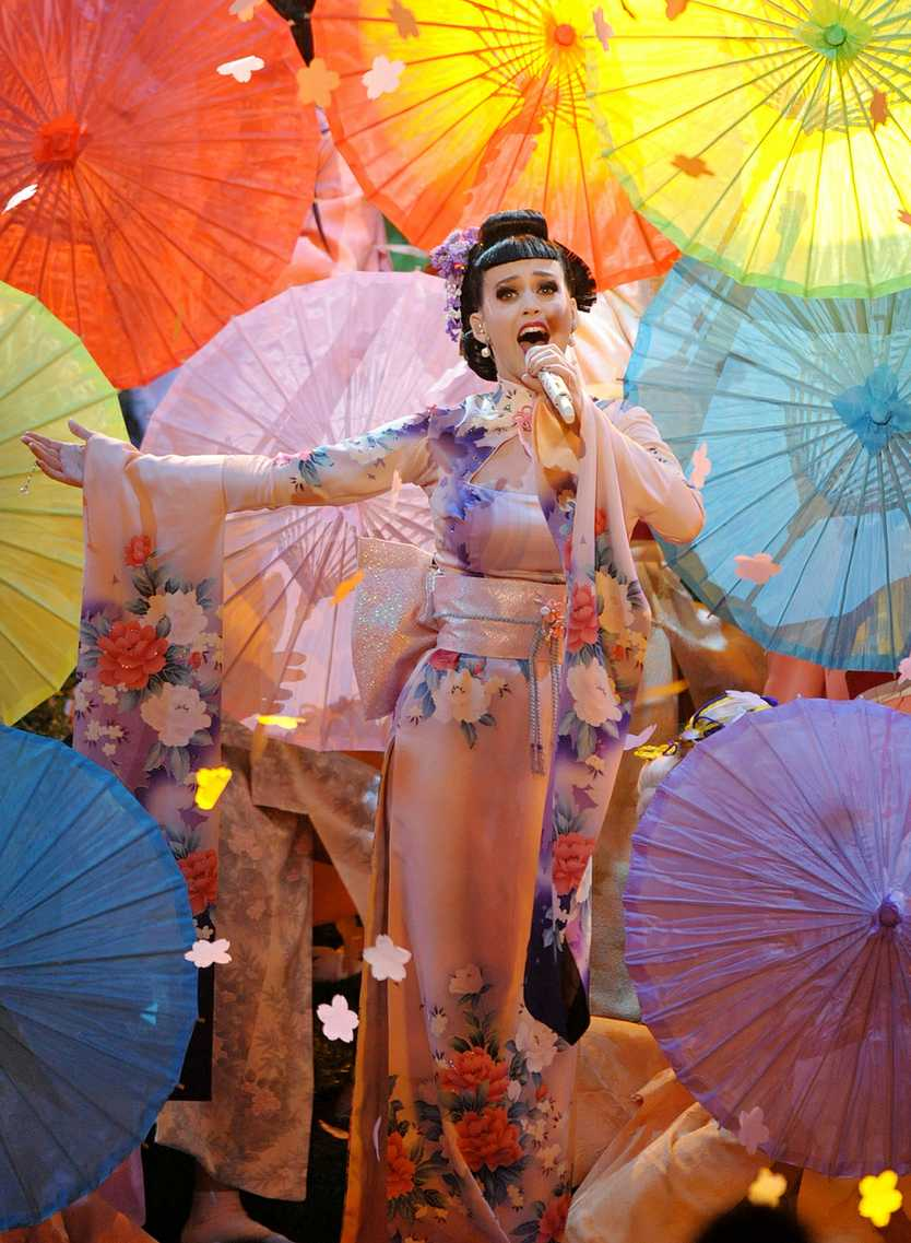 Katy Perry performs at the American Music Awards.