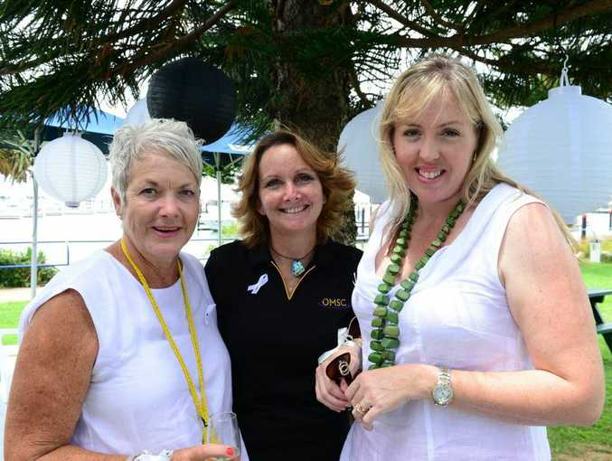 Anny Tait, Leonie Newton and Victoria Murray at The White Ribbon Event to raise money and awareness of domestic violence against women, held at the Waterline Restaurant, Keppel Bay Marina. Photo Sharyn O'Neill / The Morning Bulletin