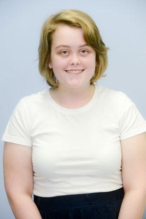 Work experience student Rebekah Lougher Photo Adam Hourigan / The Daily Examiner