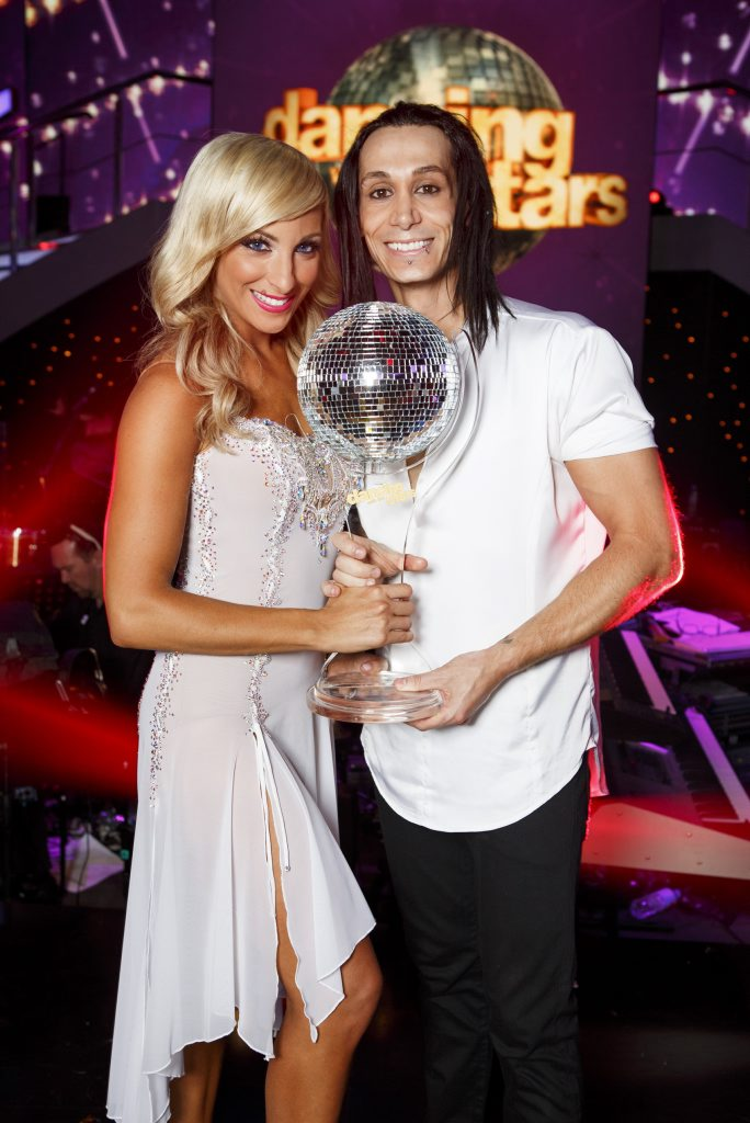 2013 Dancing With The Stars winner Cosentino pictured with his dance partner Jessica Raffa. Supplied by Channel 7.