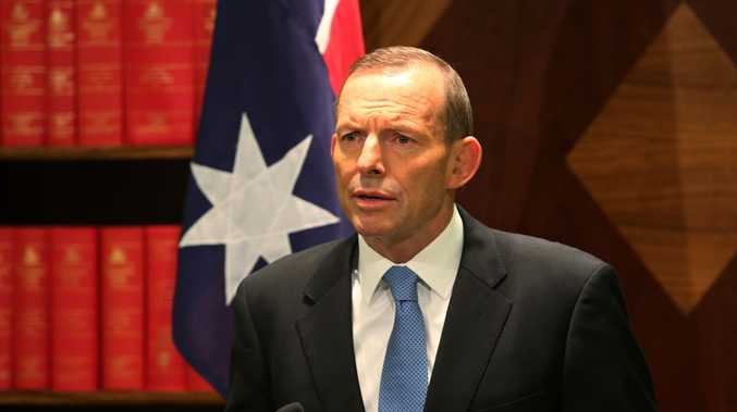 Mr Abbott addressed Indonesian President Susilo Bambang Yudhoyono's response to a letter sent to him regarding spying allegations. (AAP Image/David Crosling)