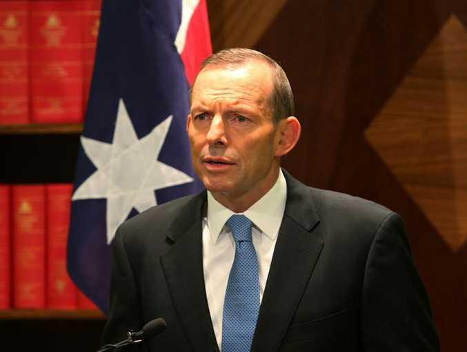 Mr Abbott addressed Indonesian President Susilo Bambang Yudhoyono's response to a letter sent to him regarding spying allegations. (AAP Image/David Crosling)