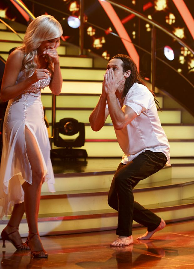 Cosentino and his dance partner Jessica Raffa react to their Dancing With The Stars win.