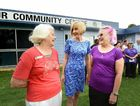 HAPPY RETURN: Communities Minister Tracy Davis (middle) with two original Our Community Centre committee members from 1988, Heather Selwood and Shar Nicholls at the reopening of the centre after the flood in January.