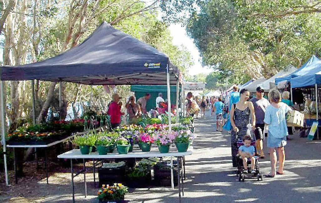 LOCATION DEBATE: The Lennox Head Community Market.