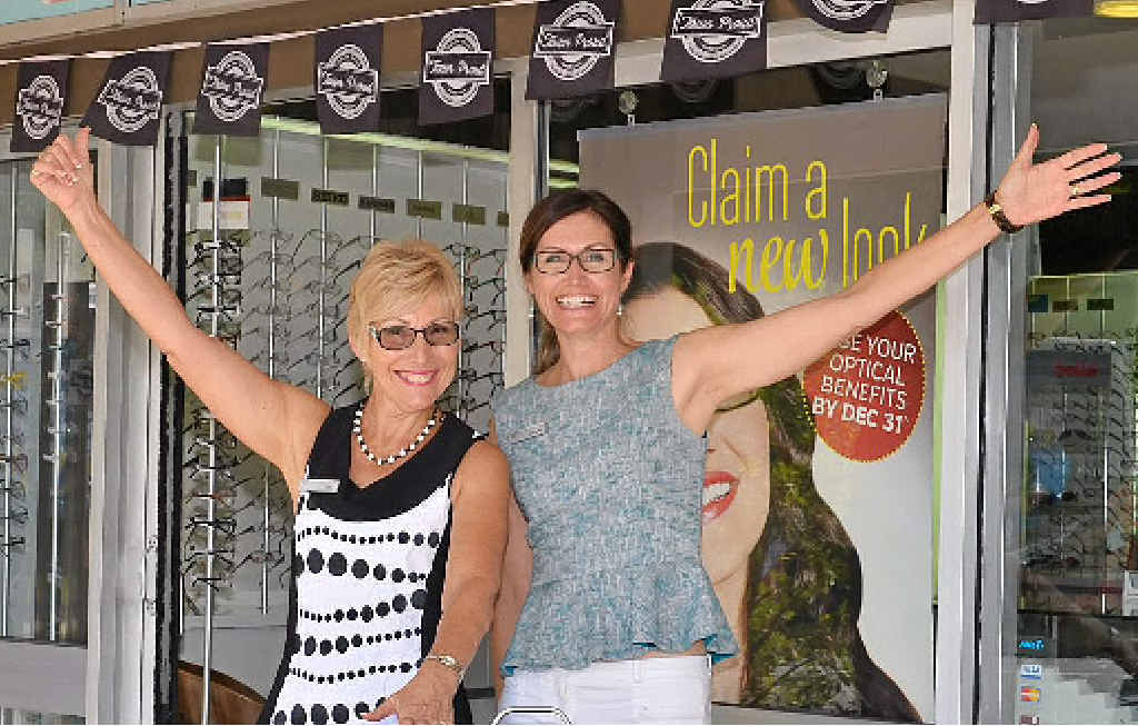 LOVING CAMPAIGN: Julia Donovan and Kim Bohl of Eyes on Buderim have embraced Town Proud.