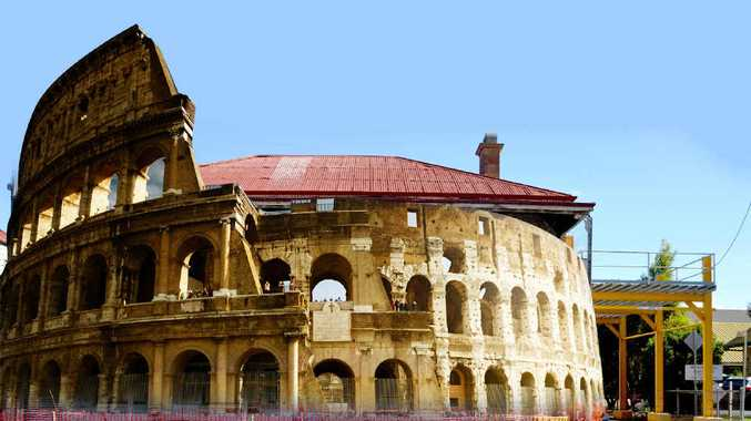 INTERESTING CONTRAST: Canning Downs owner and heritage campaigner John Barnes says it's just as well the State Government isn't charged with deciding the fate of Rome's Colosseum, as it is with Plumb's Chambers.