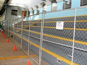 Safety fears shut cracked swim centre grandstand