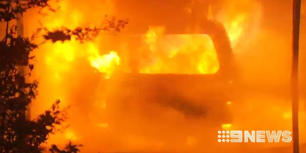 Fire rips through a garage in Wilsonton, destroying two vehicles.