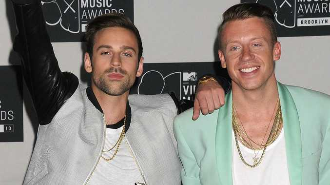 Hip hop artists Ryan Lewis and Macklemore: two white people.
