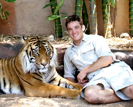 Australia Zoo tiger handler Dave Styles. This is his profile picture on the Australia Zoo website.