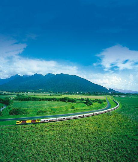The now-retired Sunlander travels through north Queensland.