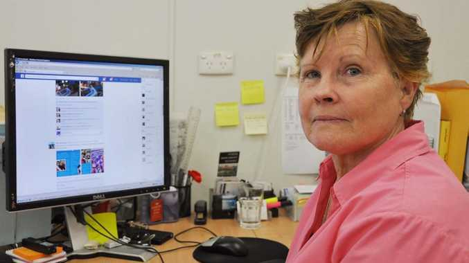 Patricia Lilly fears for childrens safety with access to Facebook for young children now more available. Photo Trish Bowman / Capricorn Coast Mirror